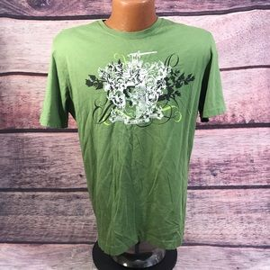 Men's green shirt express size medium
